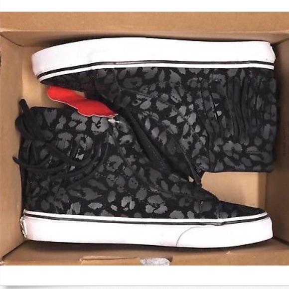 276d432222 Vans Sk8-Hi Moc Leopard Black True White Shoes